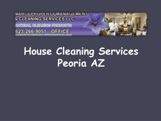 House Cleaning Services Peoria AZ