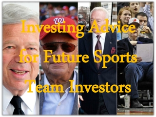 Investing advice for future sports team investors