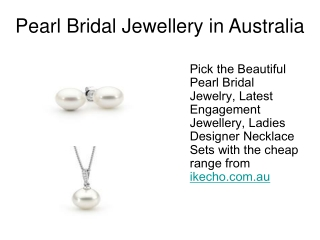Pearl Bridal Jewellery In Australia
