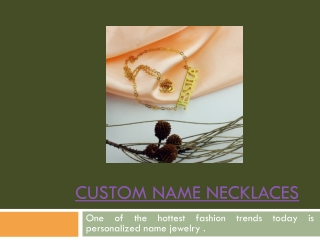 Name Plate Necklaces