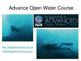Advance Open Water Course in Australia