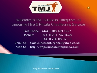 Wedding Car Hire in London - TMJ Business Enterprise