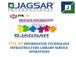 ITIL SO Certification Training