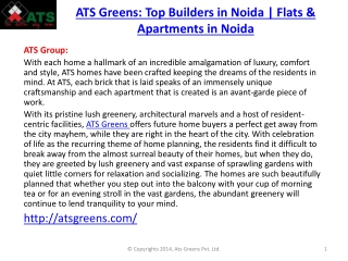 ATS Greens : Flats in Noida | Noida Real Estate