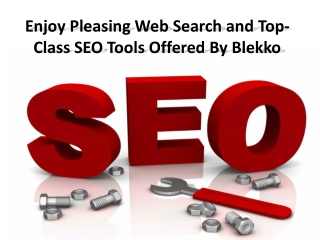Enjoy Pleasing Web Search and Top-Class SEO Tools Offered By