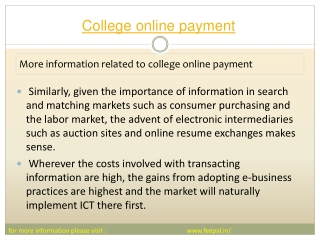 There is potential for college online payment