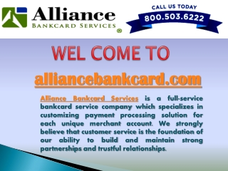 Alliance Bankcard Services
