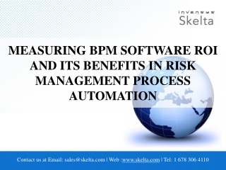 Measuring BPM Software ROI and its benefits in Risk Manageme