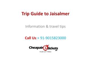 Jaisalmer trip guide