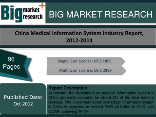 China Medical Information System Industry Report, 2012-2014