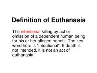 definition of euthanasia