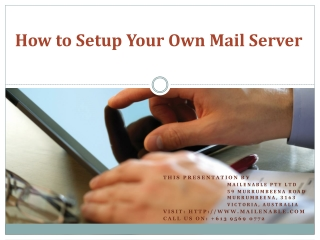 How to Setup Your Own Mail Server
