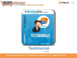 Manage Your Testimonials Easily Using Magento Testimonials