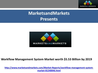 Workflow Management System Market worth $5.53 Billion by 201