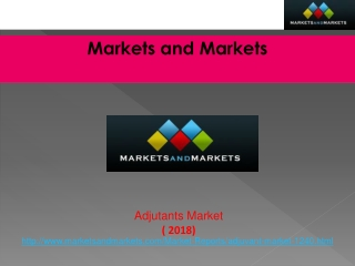 Adjutants Market worth $2,963.2 Million by 2018