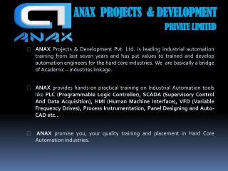 Anax Projects & Development Pvt. Ltd.