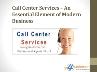 Call Center Services An Essential Element of Modern Business