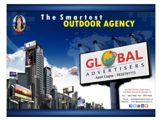Outdoor Advertising Option Campaign For Bollywood - Global A