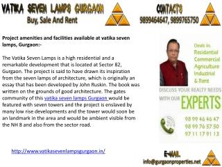 Vatika Seven Lamps Gurgaon | Vatika Flats Gurgaon
