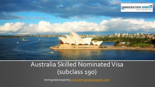 Benefits of a Australian Skilled Nominated Visa