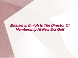 Michael J. Emigh