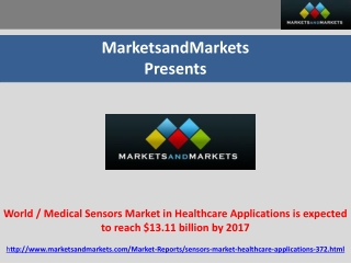 World / Medical Sensors Market in Healthcare Applications is