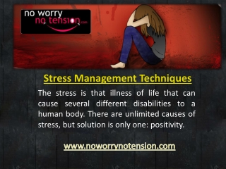 Effective Stress Management Techniques