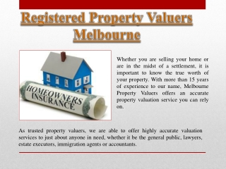 Registered Property Valuers Melbourne