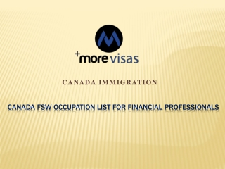 Canada Federal skilled worker occupation list for Financial