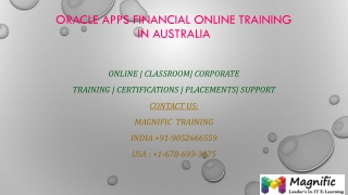 Oracle apps financial online training in Australia