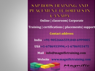 Sap bods training and placement tutorials IN CANADA