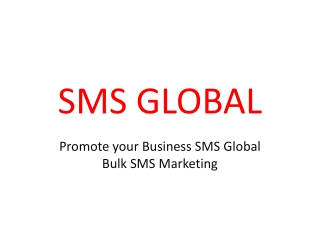 Promote your Business SMS Global  Bulk SMS Marketing