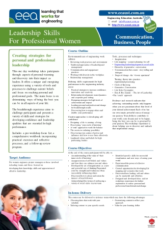 Leadership Skills For Professional Women