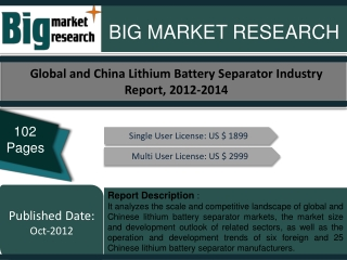 Global and China Lithium Battery Separator Industry Report,