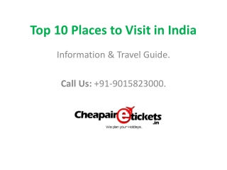 top 10 places to visit in india