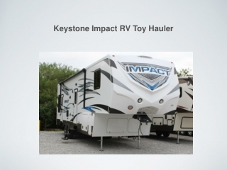 Keystone Impact RV Toy Hauler - Florida Outdoors RV