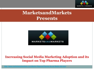 Increasing Social Media Marketing Adoption and its Impact on Top Pharma Players