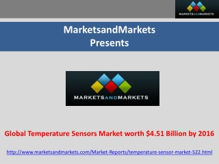 Global Temperature Sensor Market worth $4.51 Billion by 2016