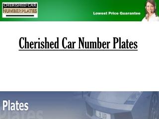 Cherished Car Number Plates