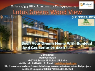 Lotus Greens Wood View - New launch in Sector 89 Gurgaon