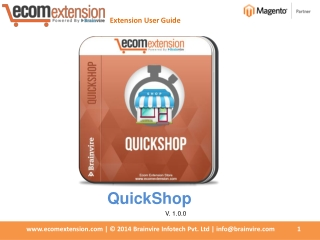 Magento Quick Shop Extension - Make Product Information Read