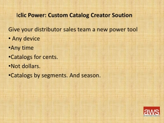 Iclic Power - Customized Catalog Solutions