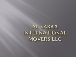 Al Sabaa Packers and Movers UAE