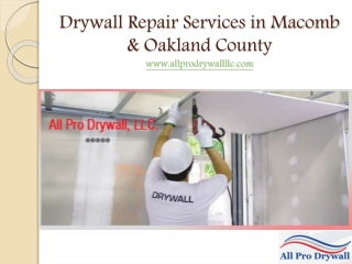 Commercial Drywall Repair Services