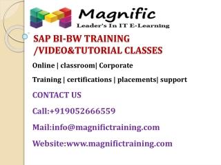 SAP BI-BW TRAINING @ VIDEO