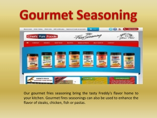 Gourmet Seasoning