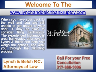 Bankruptcy In Indianapolis - Stop Foreclosure in Terre Haute