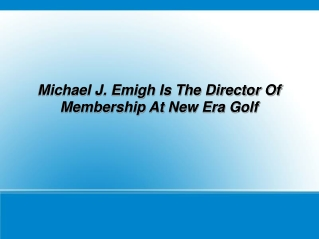 About Michael J. Emigh