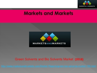 Green Solvents and Bio Solvents Market