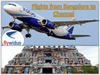 Book your cheap air tickets from Bangalore to Chennai now a